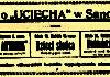 Reklama kina U ciecha w Sanoczaninie z 1919 roku 100x70 -