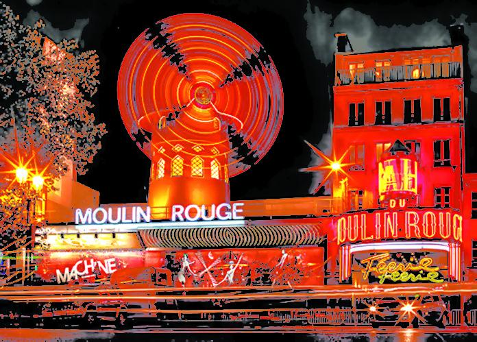 wiatrak na moulin rouge