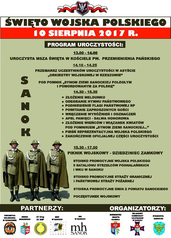 20708051 1583105985097964 1511677366141461743 n - Święto Wojska Polskiego - program uroczystości w Sanoku