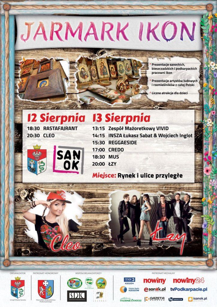 plakat jarmark m e1502090613931 - 12-13 sierpnia: Jarmark Ikon. Na scenie CLEO i ŁZY