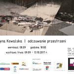 BWA Galeria Sanocka zaprasza:  Katarzyna Kowalska odczuwanie przestrzeni