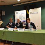 Pieniądze dla sanockiego szpitala: konferencja prasowa posłów i starosty