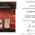 """Spotkanie z Jackiem Mateckim, promocja książki """"Dramat numer trzy"""""""