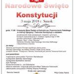 Informacje o oficjalnej części obchodów Święta Konstytucji