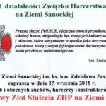 Jubileuszowy Zlot Stulecia ZHP na Ziemi Sanockiej – zaproszenie