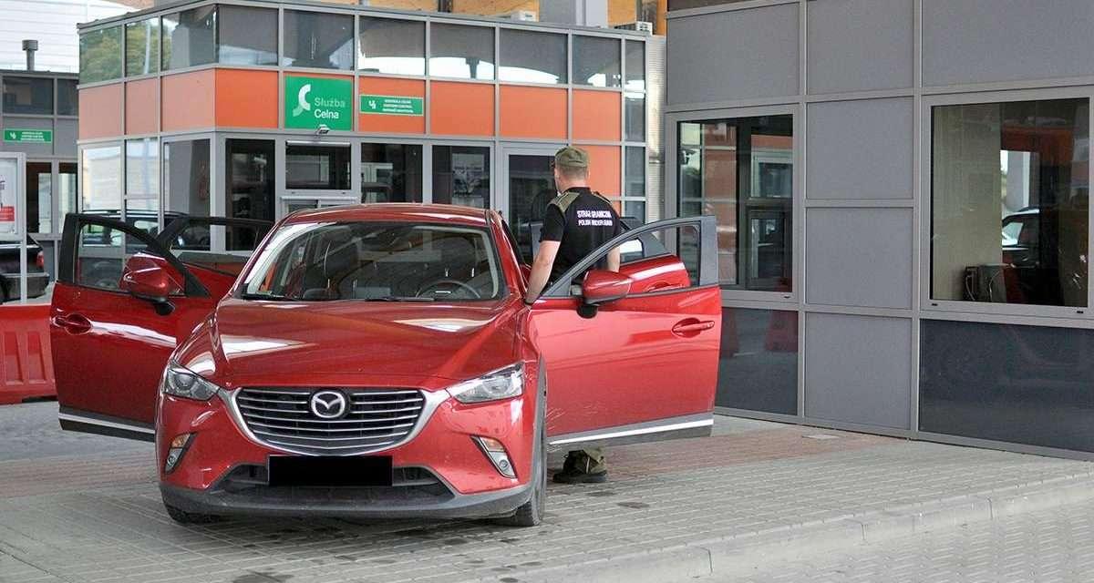 Mazda warta 80 tys. złotych zatrzymana na granicy