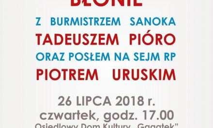 Spotkanie mieszkańców dzielnicy Błonie z burmistrzem i posłem na Sejm RP