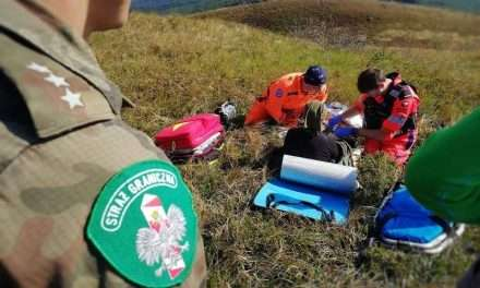 Strażnicy graniczni z Bieszczad pomogli nieprzytomnej turystce