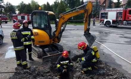 Uszkodzenie gazociągu w Pakoszówce