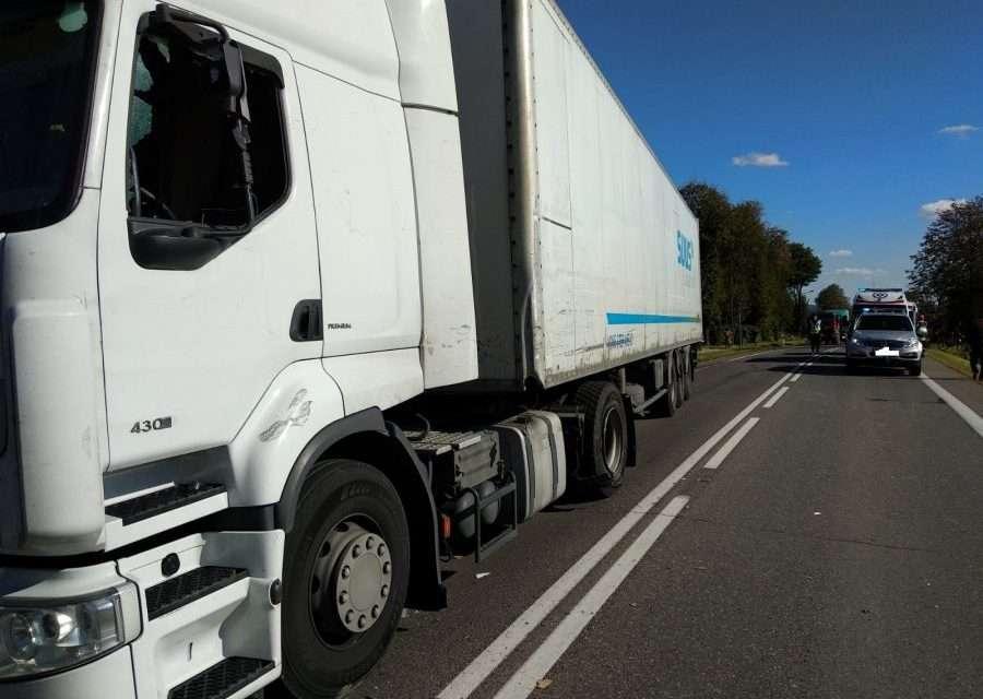 Zderzenie dwóch pojazdów w Bliznem