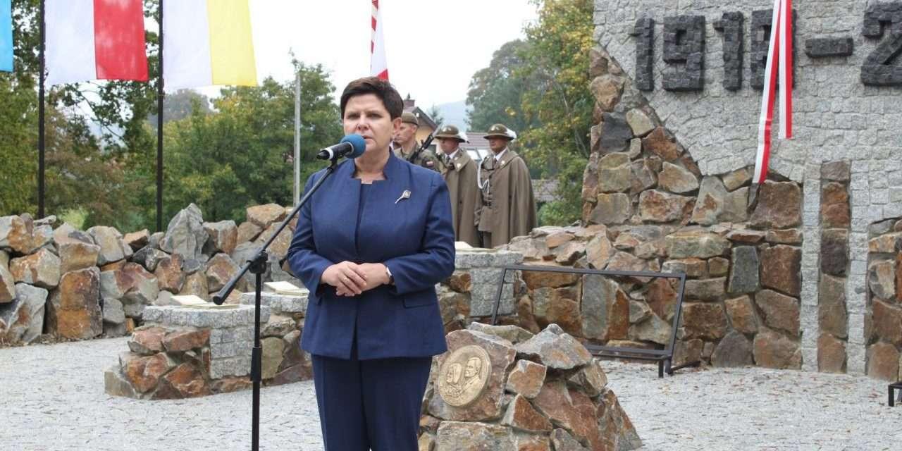 Strachocina – odsłonięcie pomnika ufundowanego z okazji 100 – lecia odzyskania niepodległości