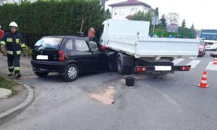 Wypadek w Przysietnicy – zderzenie opla z ciężarówką