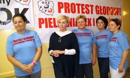 Sanockie pielęgniarki i położne rozpoczęły protest głodowy!