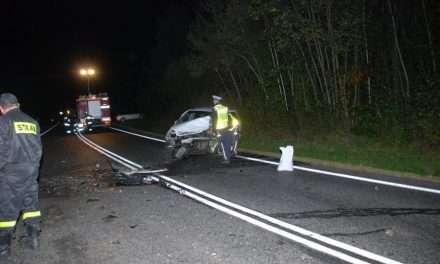 Wypadek w Leszczawie Dolnej – zderzenie opla z volkswagenem