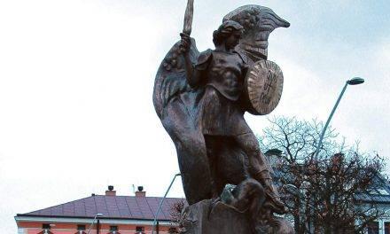 Poświęcenie pomnika patrona miasta