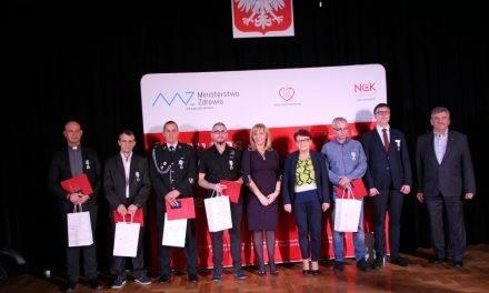 Wręczenie odznak – Honorowy Dawca Krwi w PWSZ