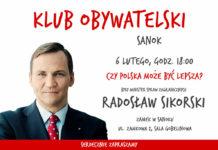 Klub Obywatelski zaprasza na spotkanie z Radosławem Sikorskim
