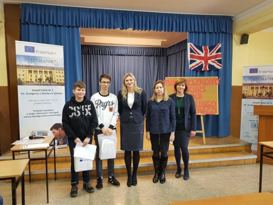 Konkurs Języka Angielskiego Technicznego dla uczniów szkół podstawowych i gimnazjalnych 6 560x420 - Konkurs Języka Angielskiego Technicznego w Zespole Szkół nr 2 w Sanoku