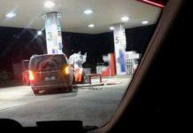 Wjechał w dystrybutor z paliwem i chciał go wysadzić