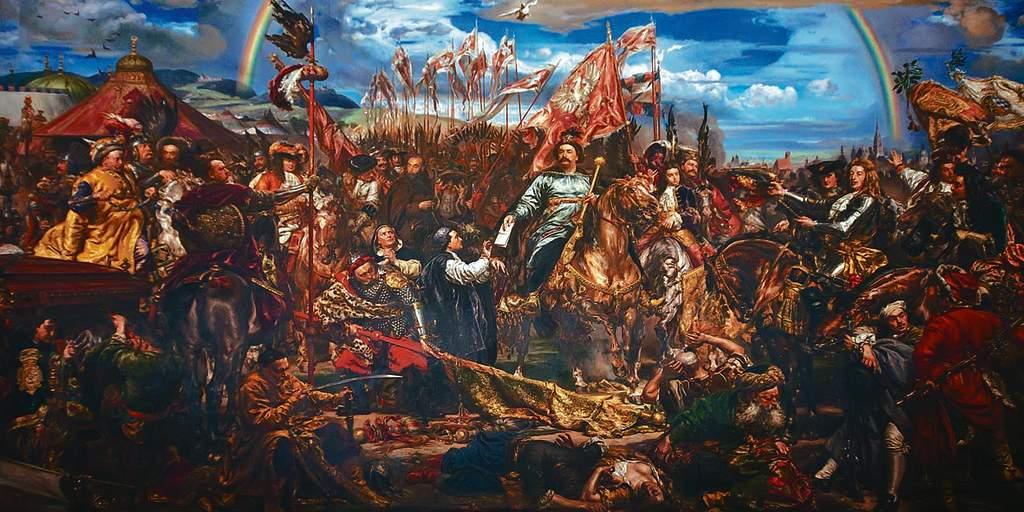 King John III Sobieski Sobieski sending Message of Victory to the Pope after the Battle of Vienna 111 - Wójt z Jurowiec i młody książę w delegacji u Leona XIII