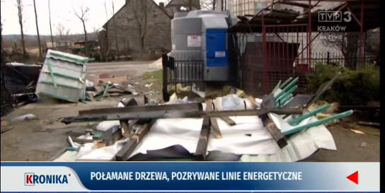 Ponad 1 800 zgłoszeń w Małopolsce w związku z wichurą