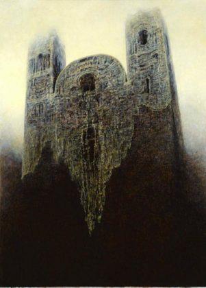 150Q8 301x420 - Patrzenie na pożar katedry Notre Dame przez pryzmat twórczości Beksińskiego