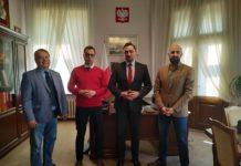 Burmistrzowie Leska i Ustrzyk Dolnych u burmistrza Tomasza Matuszewskiego