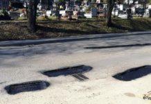 Ulica Kiczury - uwaga na dziury!