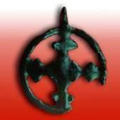 redniowieczne znaki wiary z trepczańskiej Fajki średniowieczny krzyż - Średniowieczne znaki wiary z trepczańskiej Fajki