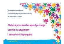 Oblicza procesu terapeutycznego ucznia z autyzmem i zespołem Aspergera - zaproszenie na konferencję