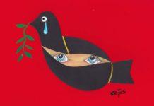 Rysunki Tadeusza Krotosa na wystawie w Indonezji