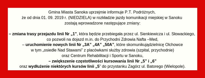 Gmina Miasta Sanoka uprzejmie informujei  - Tygodnik Sanocki