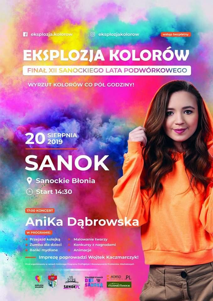 kolory - Finał XII Sanockiego Lata Podwórkowego. Eksplozja Kolorów, Anika Dąbrowska, Wojtek Kaczmarczyk