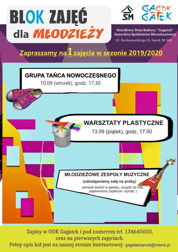 plakat blok dla młodzieży jpg - Tygodnik Sanocki