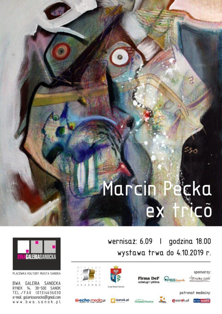 Pecka zaproszenie 726x1024 - Wernisaż Marcina Pecki wsanockim BWA
