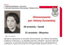 Uhonorowanie por. Heleny Żurowskiej