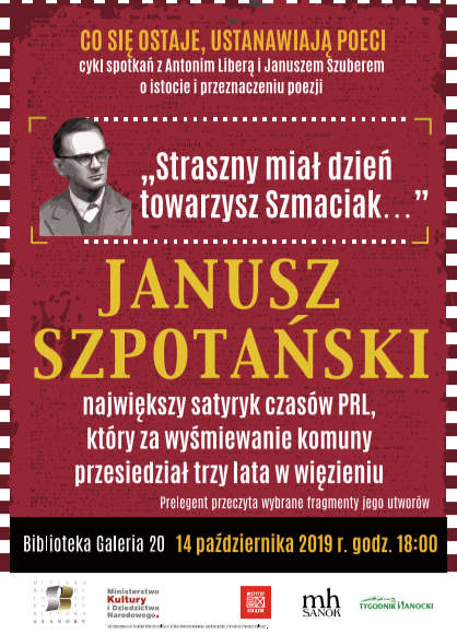 Antoni Libera opowie o twórczości Janusza Szpotańskiego