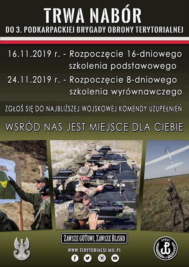 plakat rekrutacja do 3PBOT 725x1024 - Ostanie powołania do Podkarpackiej Brygady OT w listopadzie