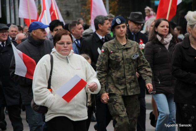 marsz niepodległości 38 630x420 - Sanok w rocznicę odzyskania niepodległości