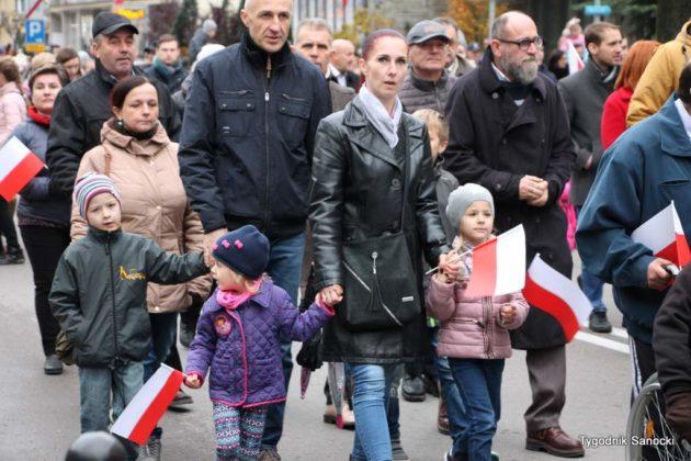 marsz niepodległości 42 630x420 - Sanok w rocznicę odzyskania niepodległości