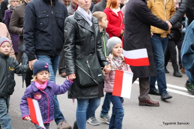 marsz niepodległości 43 630x420 - Sanok w rocznicę odzyskania niepodległości