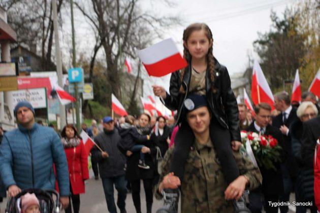 marsz niepodległości 44 630x420 - Sanok w rocznicę odzyskania niepodległości