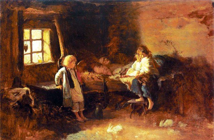 Matula pomarli wstrząsający obraz Aleksandra Kotsisa odnoszacy się do głodu pustoszącego Galicję.  741x486 - Tygodnik Sanocki