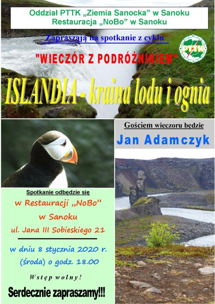 Wieczór z podróżnikiem - Jan Adamczyk o wyprawie na Islandię
