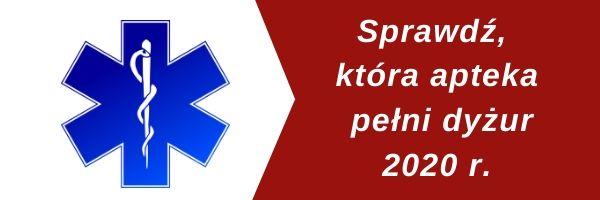dyżury aptek 2020 - Tygodnik Sanocki