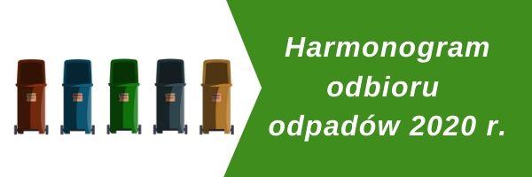 harmonogram odbioru odpadów 2020 - Tygodnik Sanocki