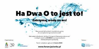 """Promuj swoje pomysły na oszczędzanie wody – konkurs """"H20! To jest to!"""""""