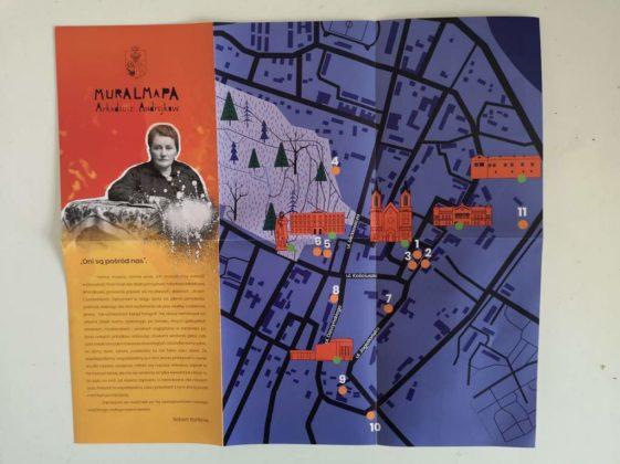 """mural mapa 1 561x420 - """"Mural mapa"""" Sanoka do odebrania w CIT i PTTK"""