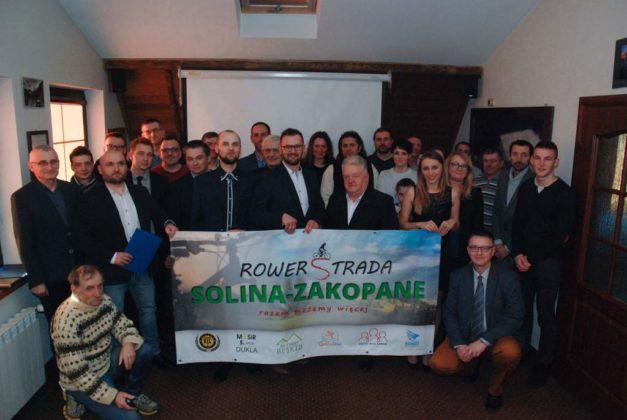Rowerostrada Solina-Zakopane - podpisano deklarację o współpracy na rzecz budowy drogi rowerowej