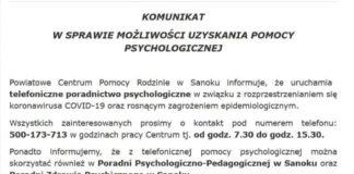Pomoc psychologiczna w związku z rozprzestrzenianiem się koronawirusa COVID-19